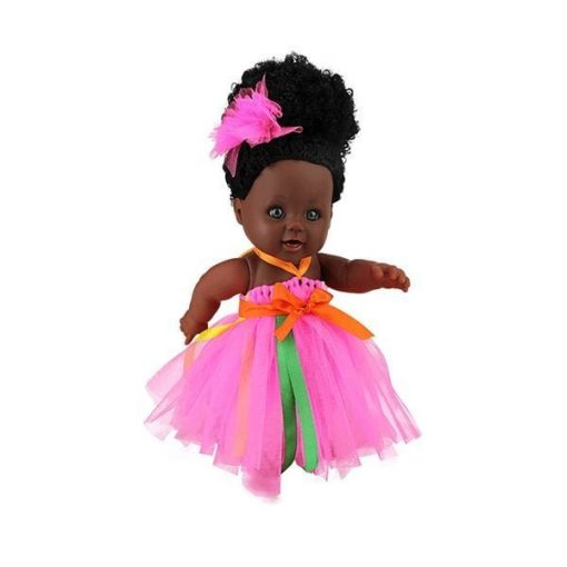 Amang Afro Babypuppe in Pink